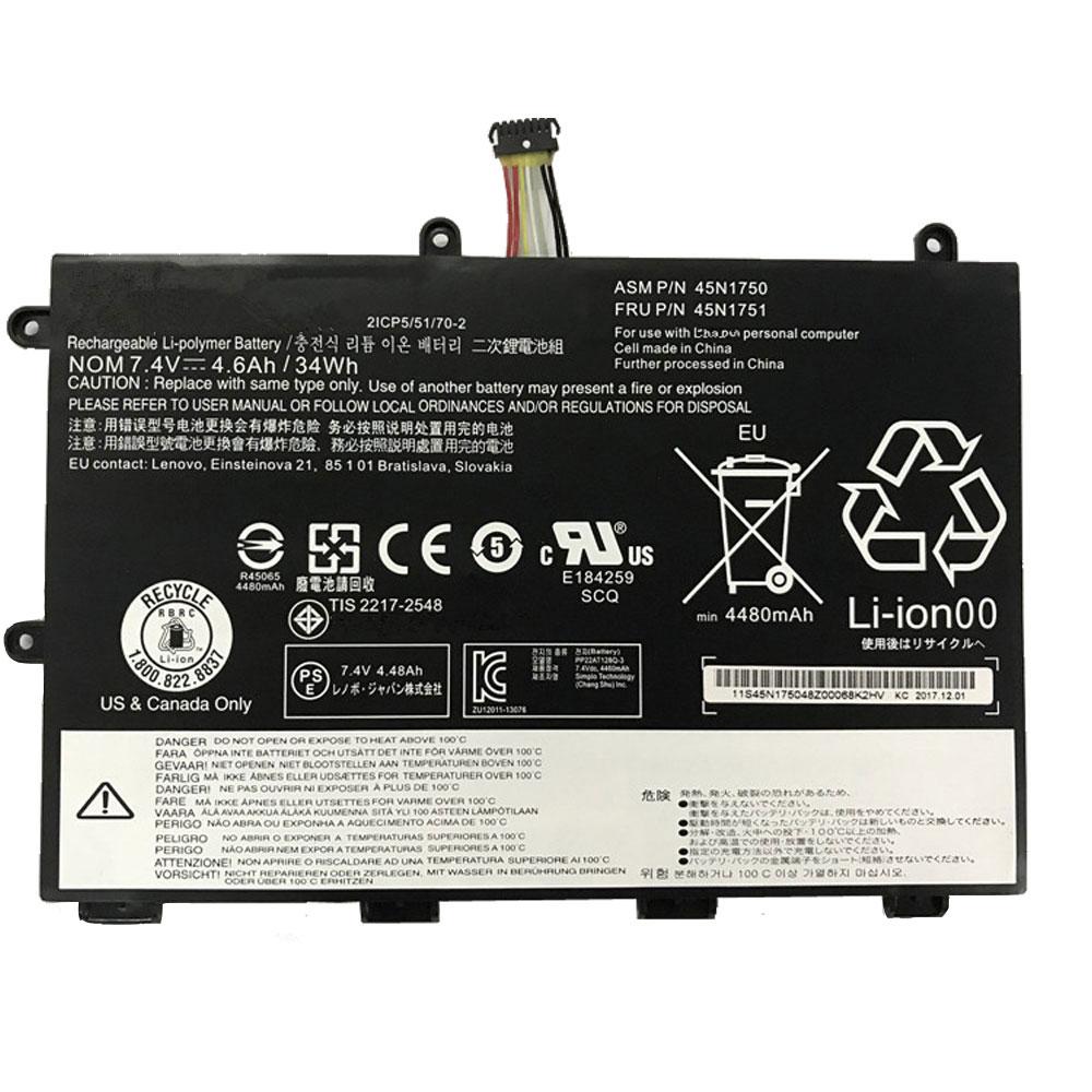 45N1750 交換バッテリー34wh/4600mAh LENOVO 45N1750 ノートPCバッテリー