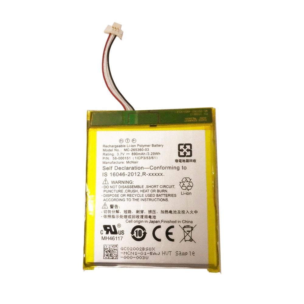 Amazon Kindle 7 7th Gen 6 Model WP63GW 58-000083用amazon 58-000151バッテリー 交換