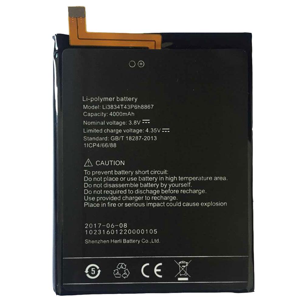 Li3834T43p6H8867電池パック