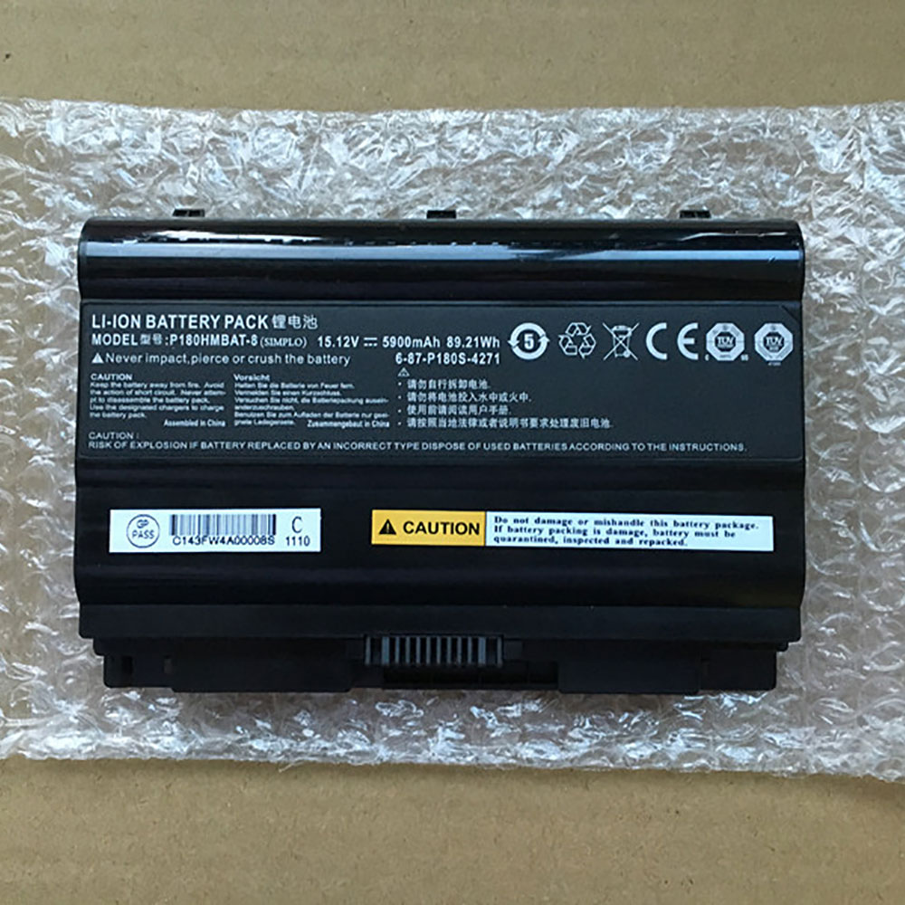 Clevo 6 87 P180S 427 laptop battery対応バッテリー