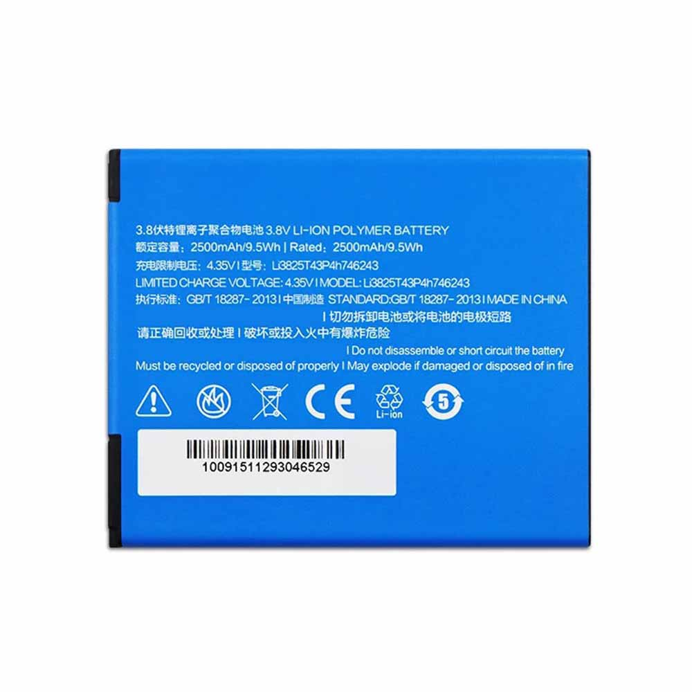 Li3825T43P4h746243電池パック