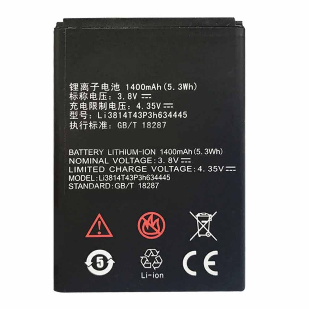 Li3814T43P3h634445電池パック