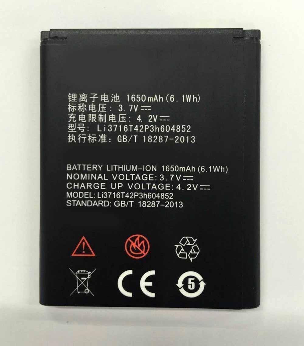 LI3716T42P3H604852電池パック